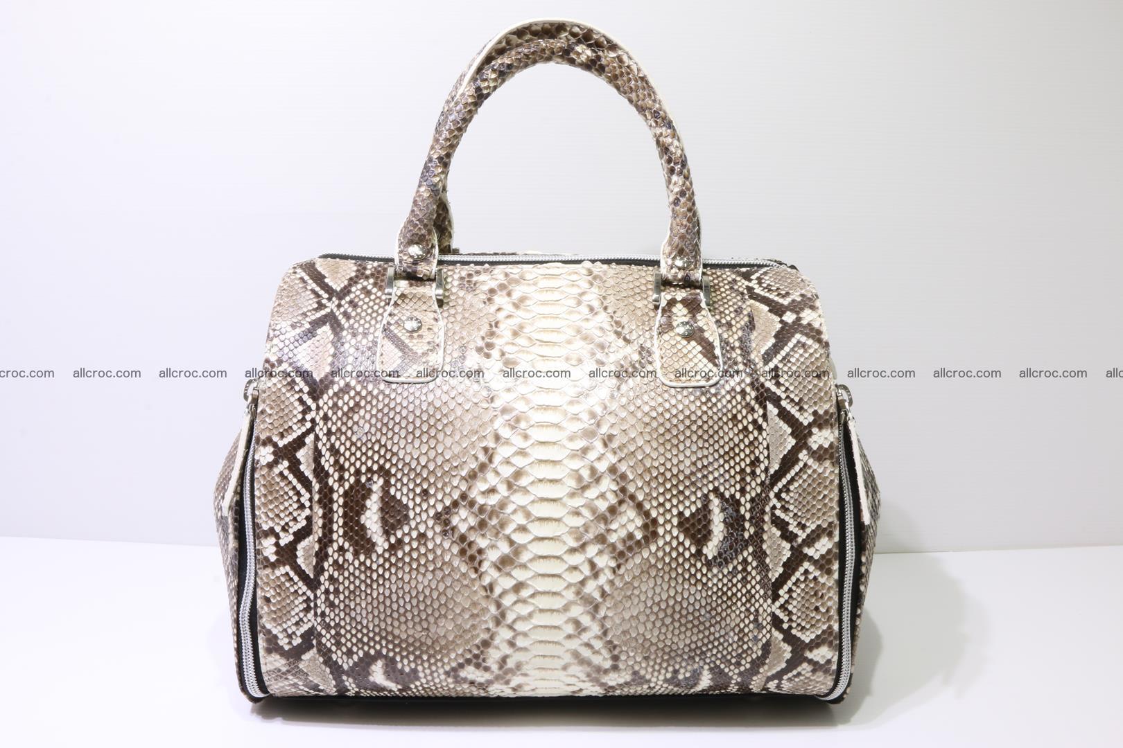 Handbag for women from genuine python skin 214 Foto 0