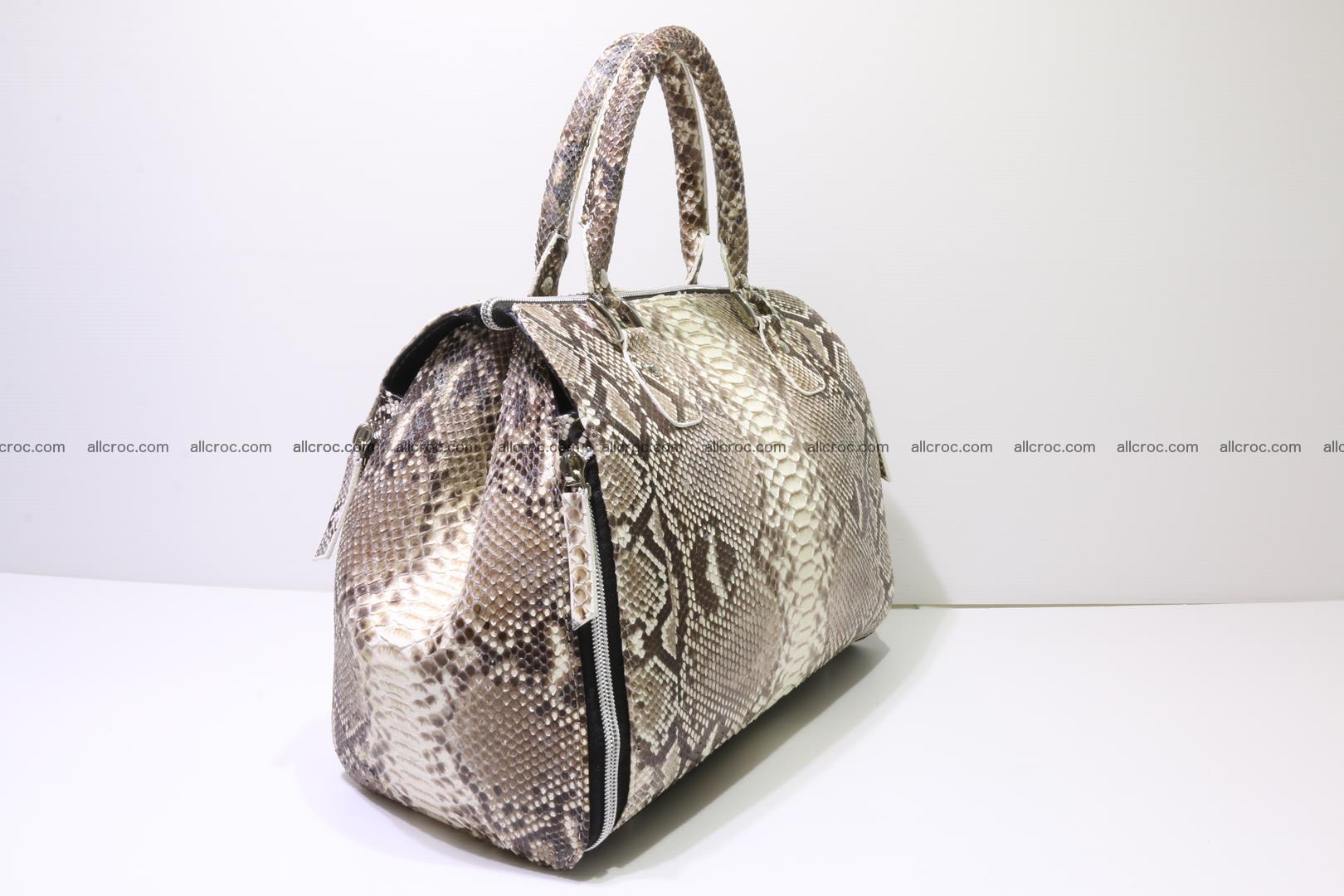 Handbag for women from genuine python skin 214 Foto 1