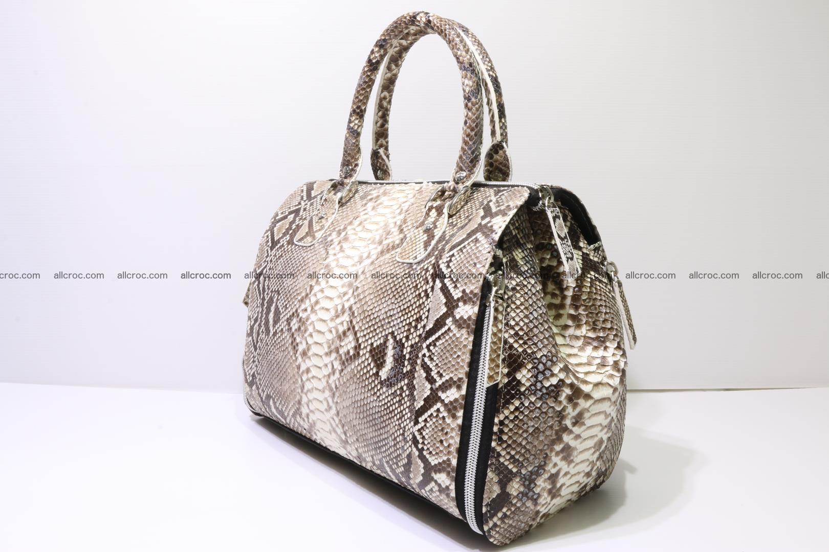 Handbag for women from genuine python skin 214 Foto 2