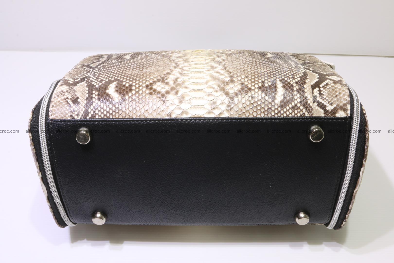 Handbag for women from genuine python skin 214 Foto 4