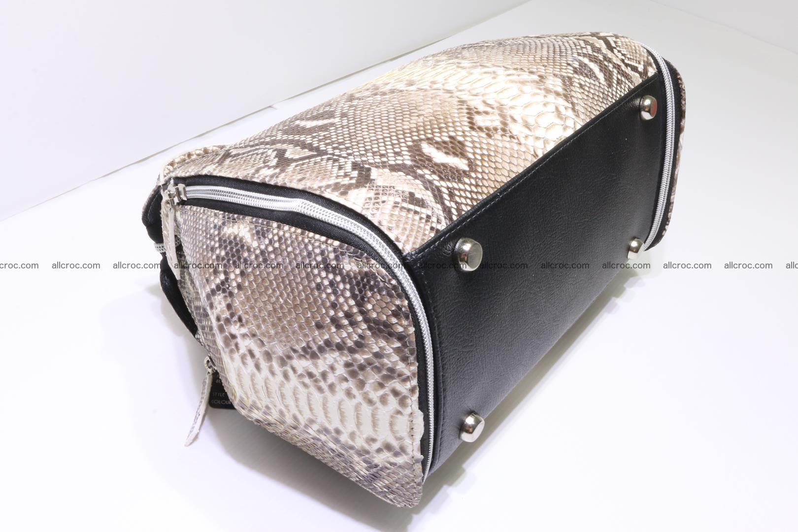 Handbag for women from genuine python skin 214 Foto 5