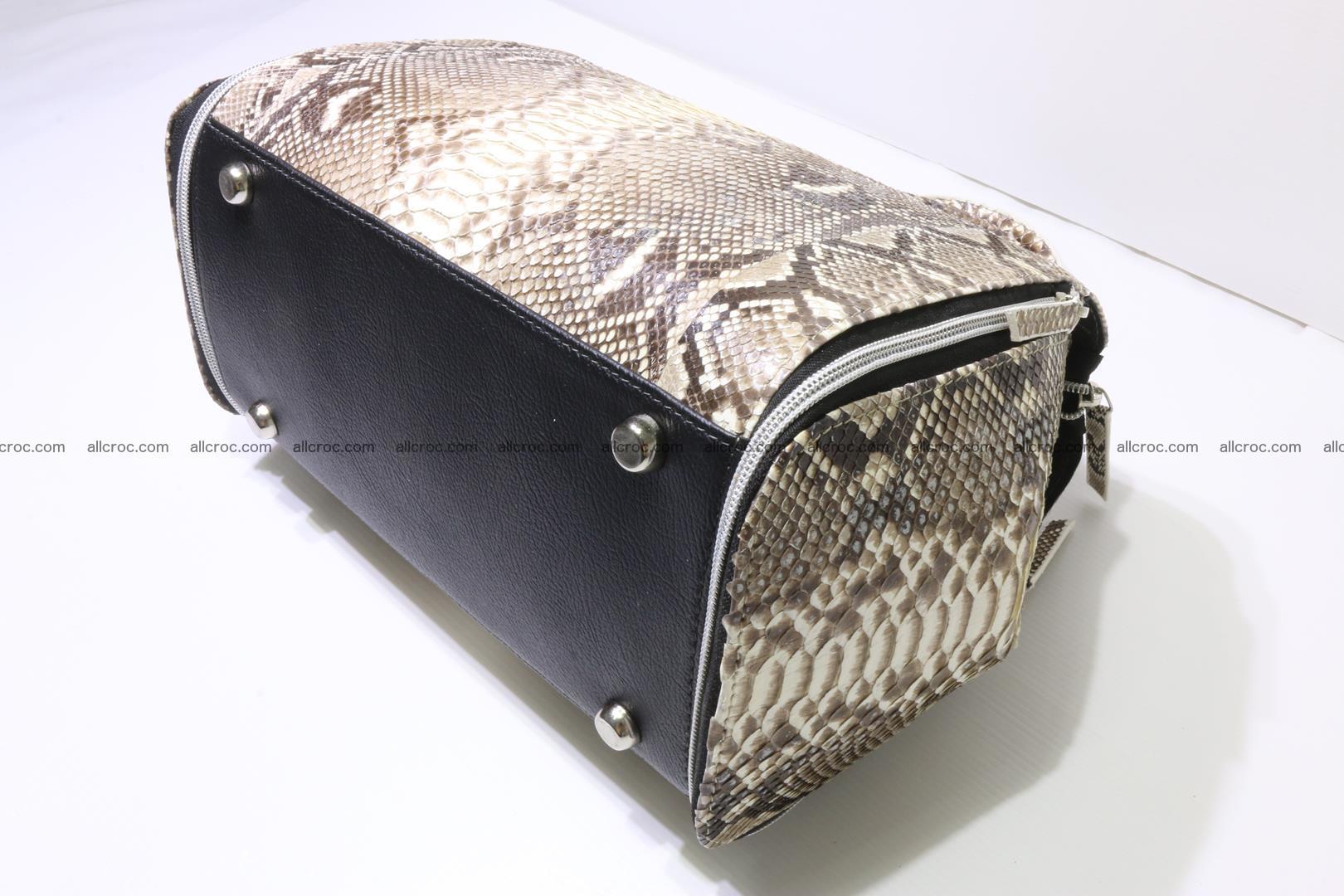Handbag for women from genuine python skin 214 Foto 6