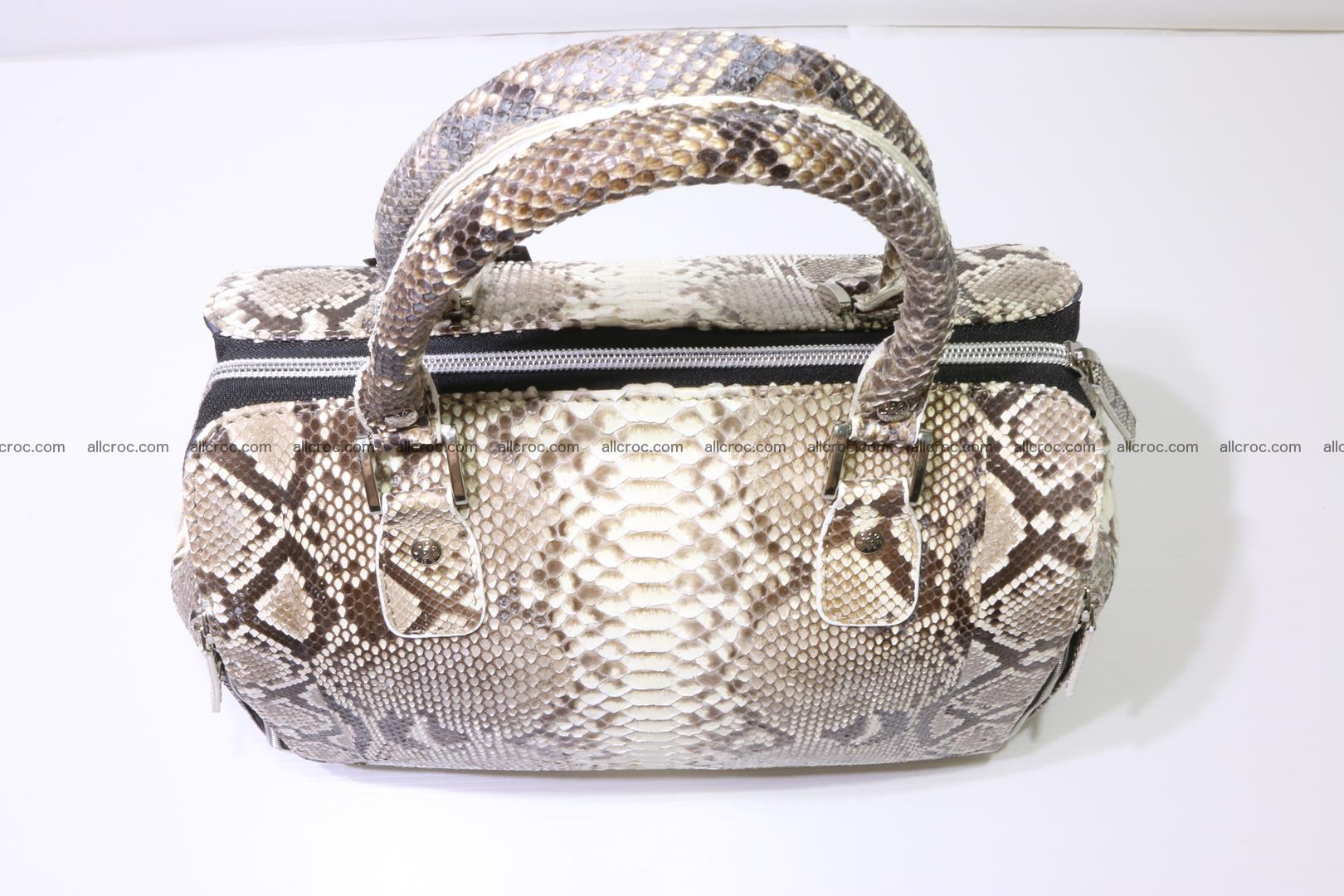 Handbag for women from genuine python skin 214 Foto 7