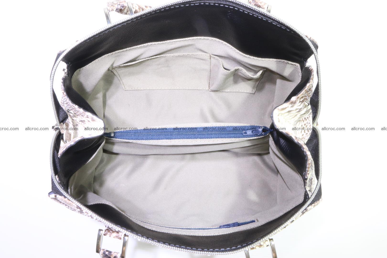 Handbag for women from genuine python skin 214 Foto 8