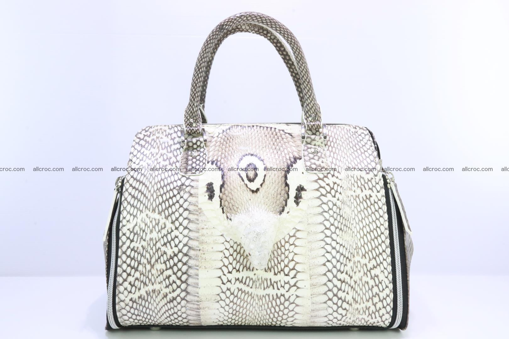 Handbag from cobra skin for lady 188 Foto 0