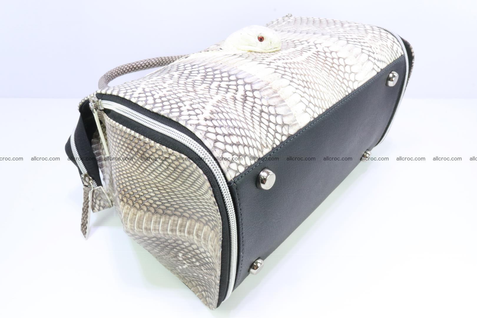 Handbag from cobra skin for lady 188 Foto 9