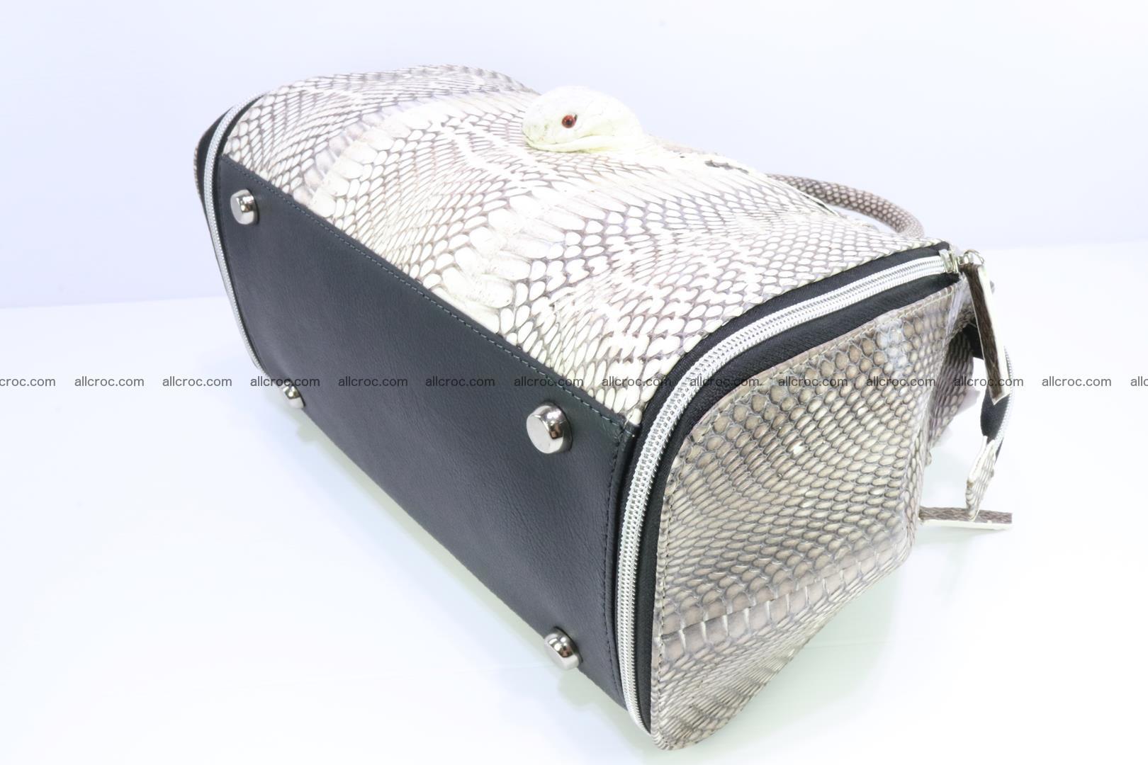 Handbag from cobra skin for lady 188 Foto 10