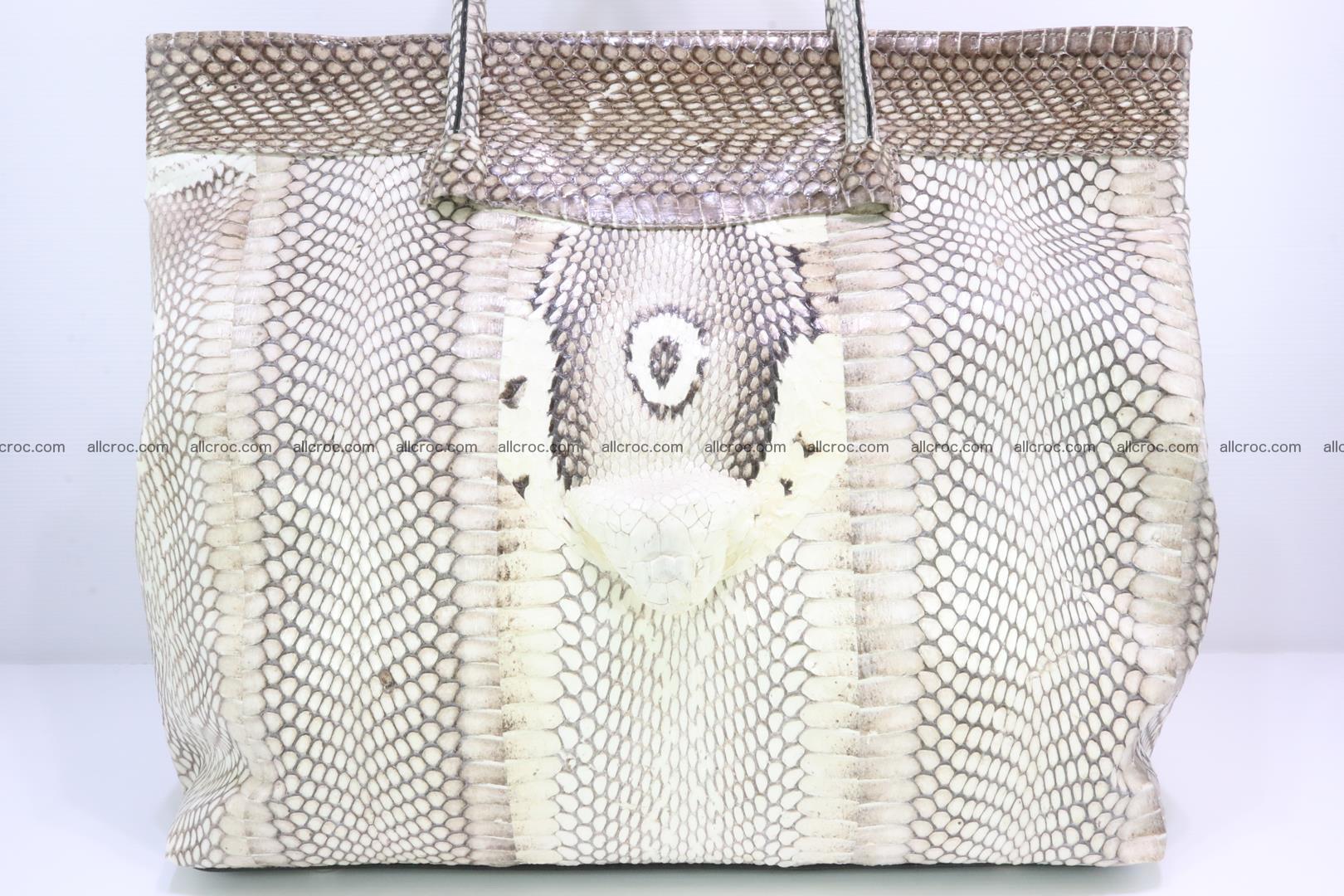 Handbag from cobra skin for lady 182 Foto 4