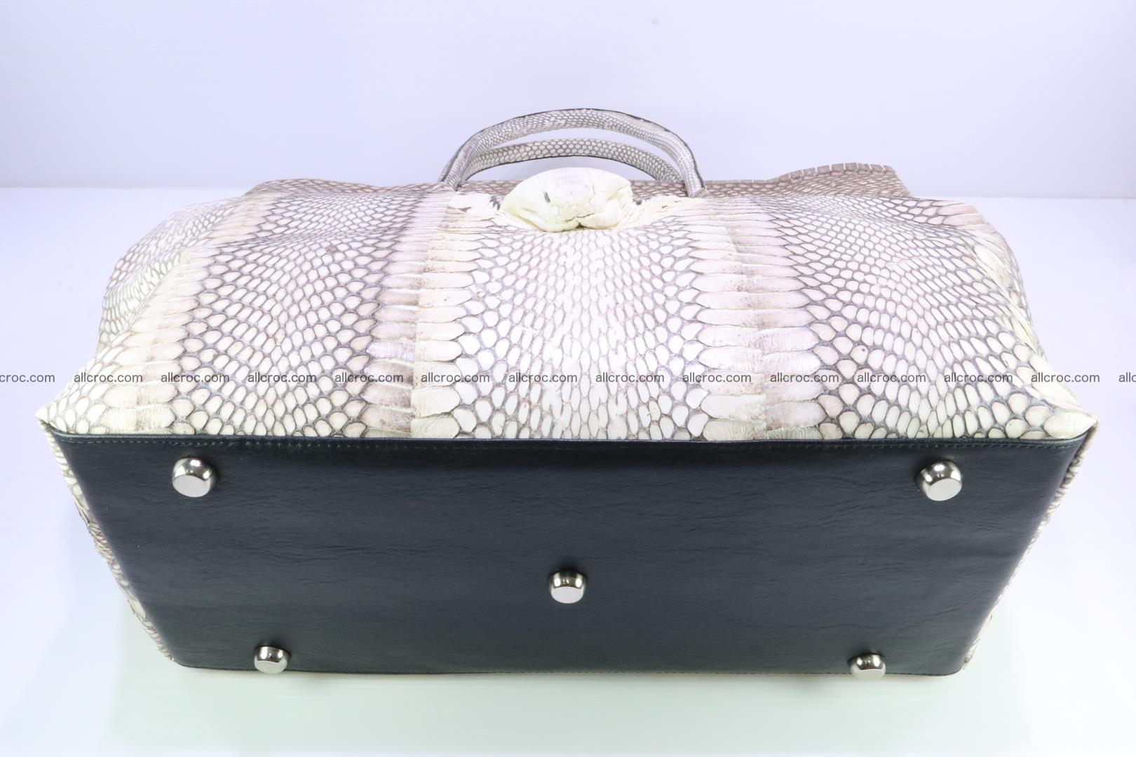 Handbag from cobra skin for lady 182 Foto 12