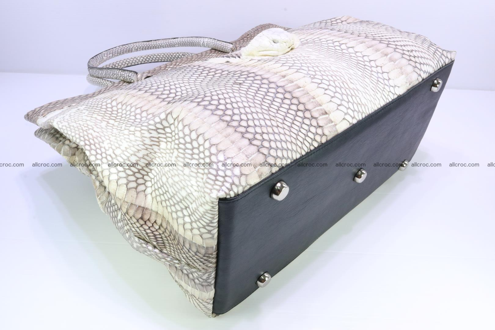 Handbag from cobra skin for lady 182 Foto 13