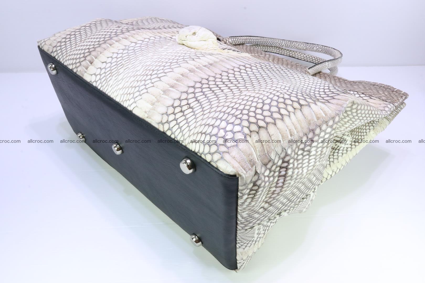 Handbag from cobra skin for lady 182 Foto 14