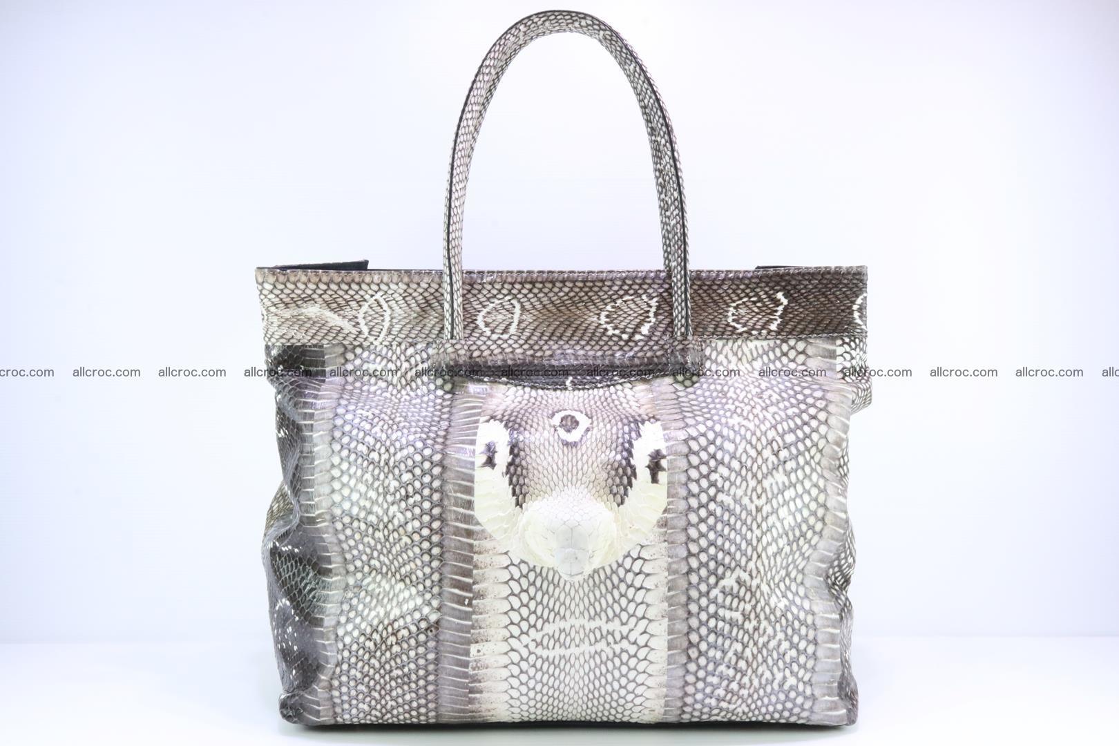 Handbag from cobra skin for lady 183 Foto 0