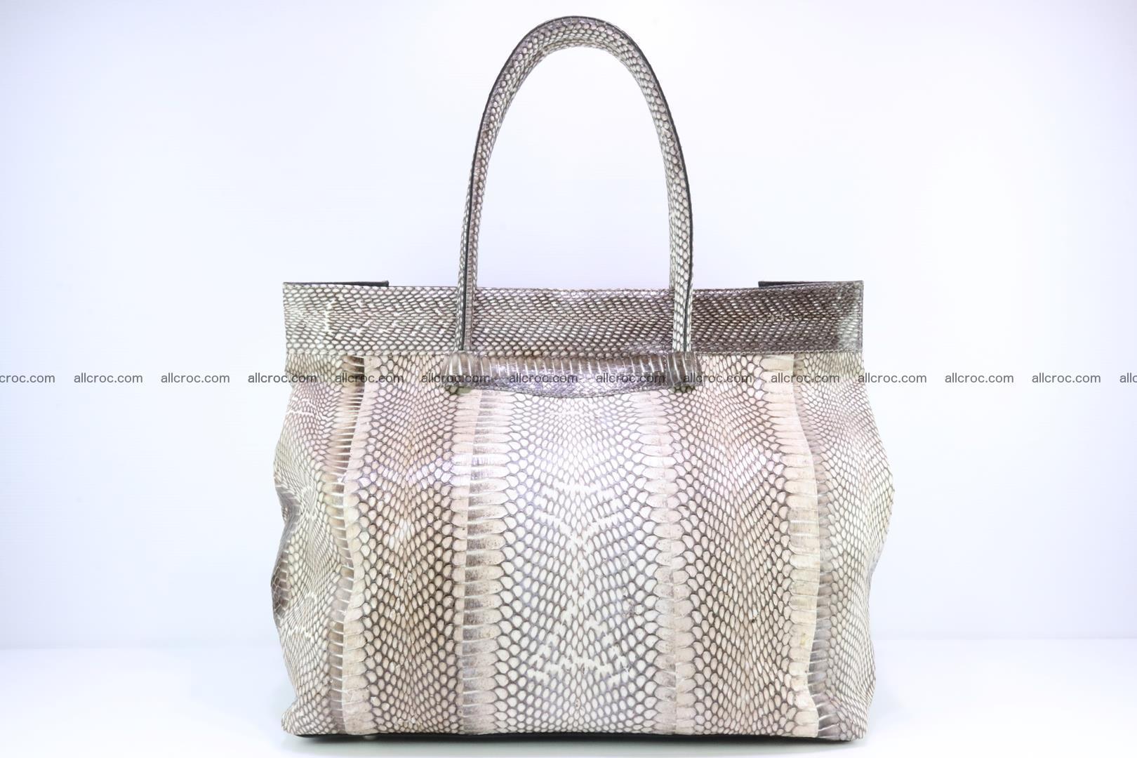 Handbag from cobra skin for lady 183 Foto 4