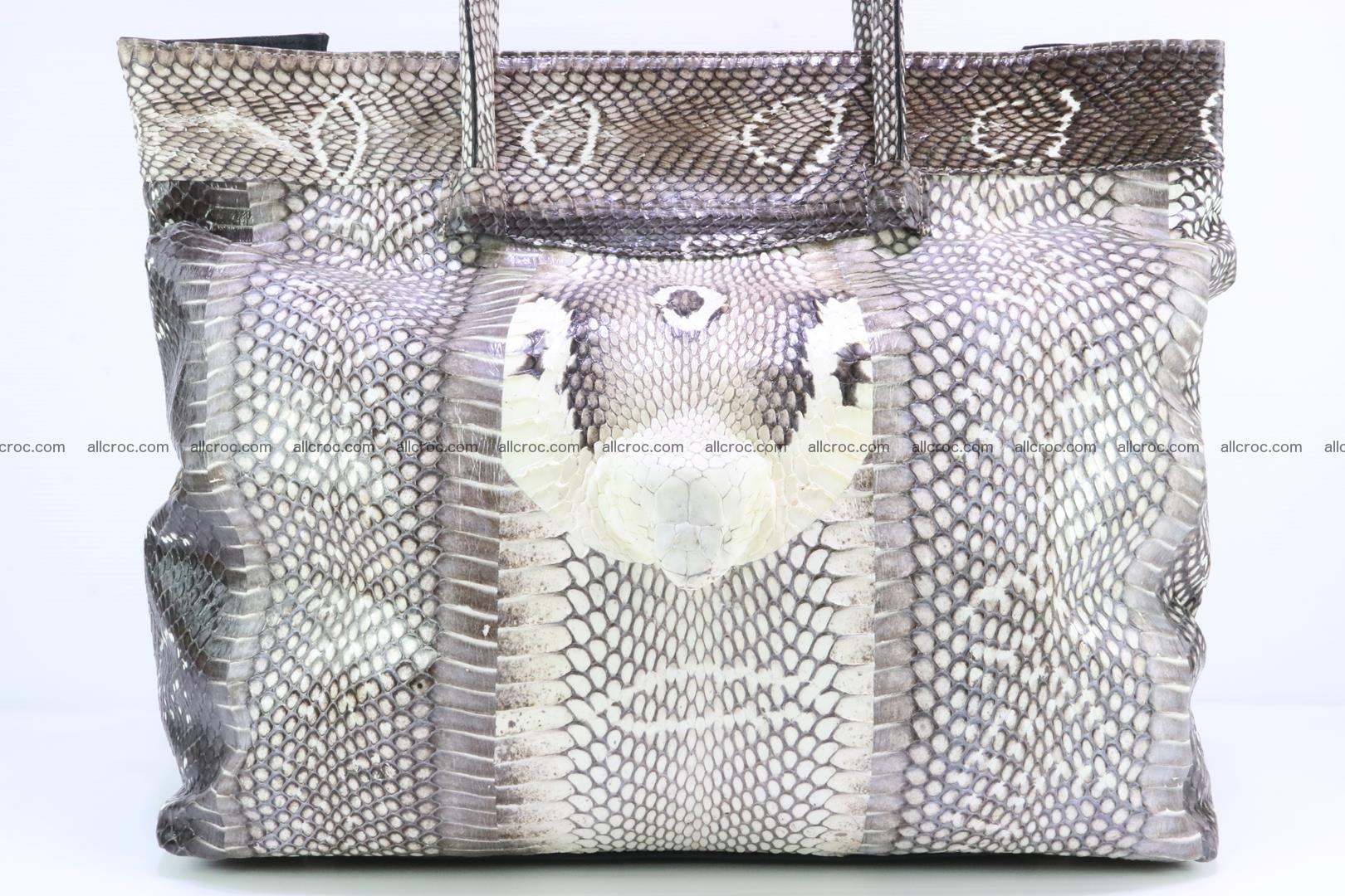 Handbag from cobra skin for lady 183 Foto 8