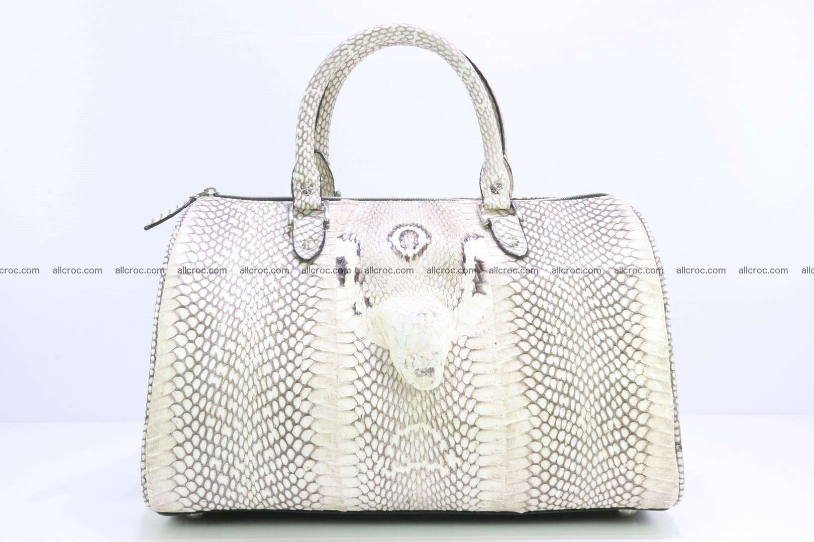 Handbag from cobra skin with head of cobra 170 Foto 0