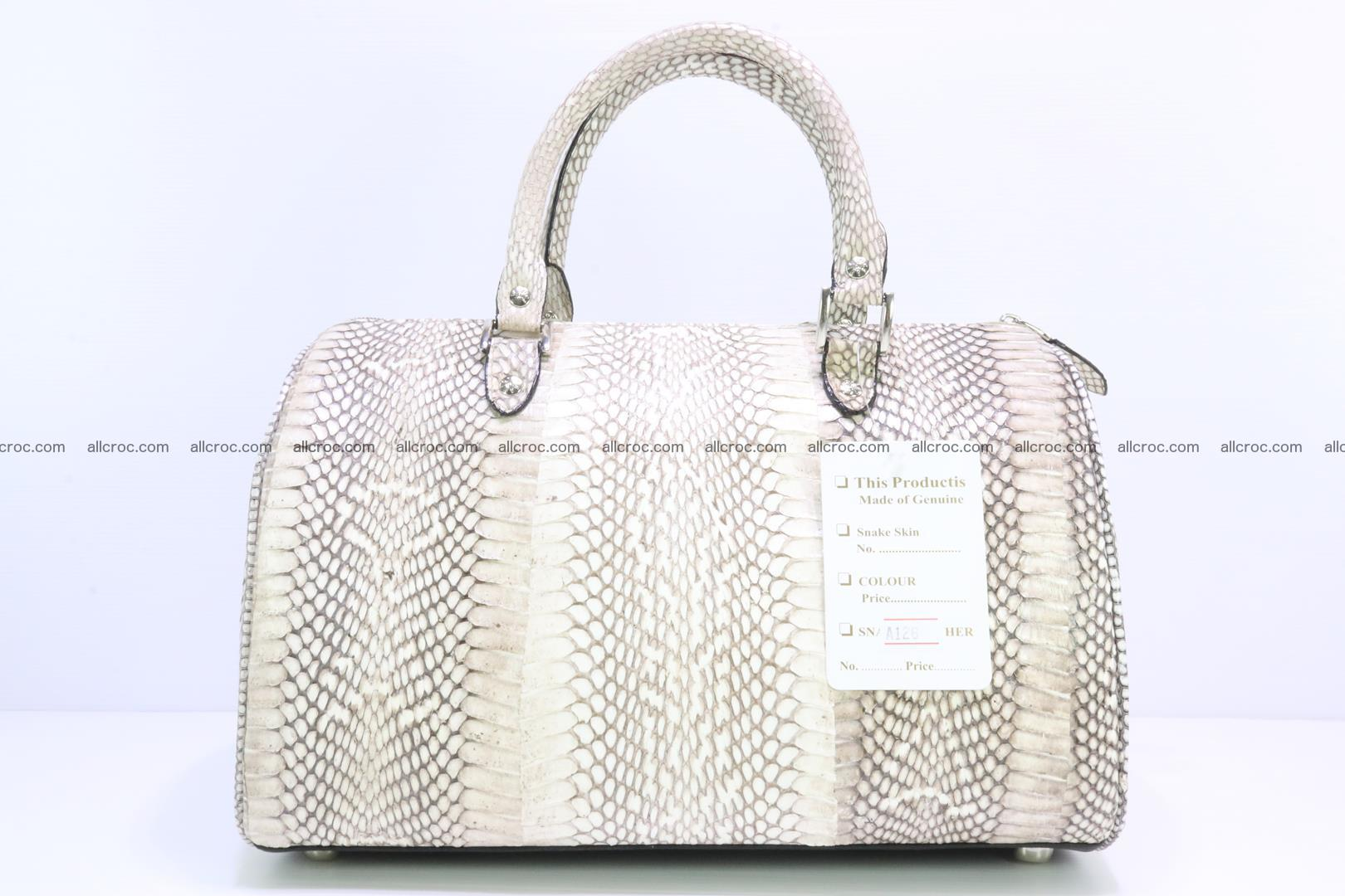 Handbag from cobra skin with head of cobra 170 Foto 3