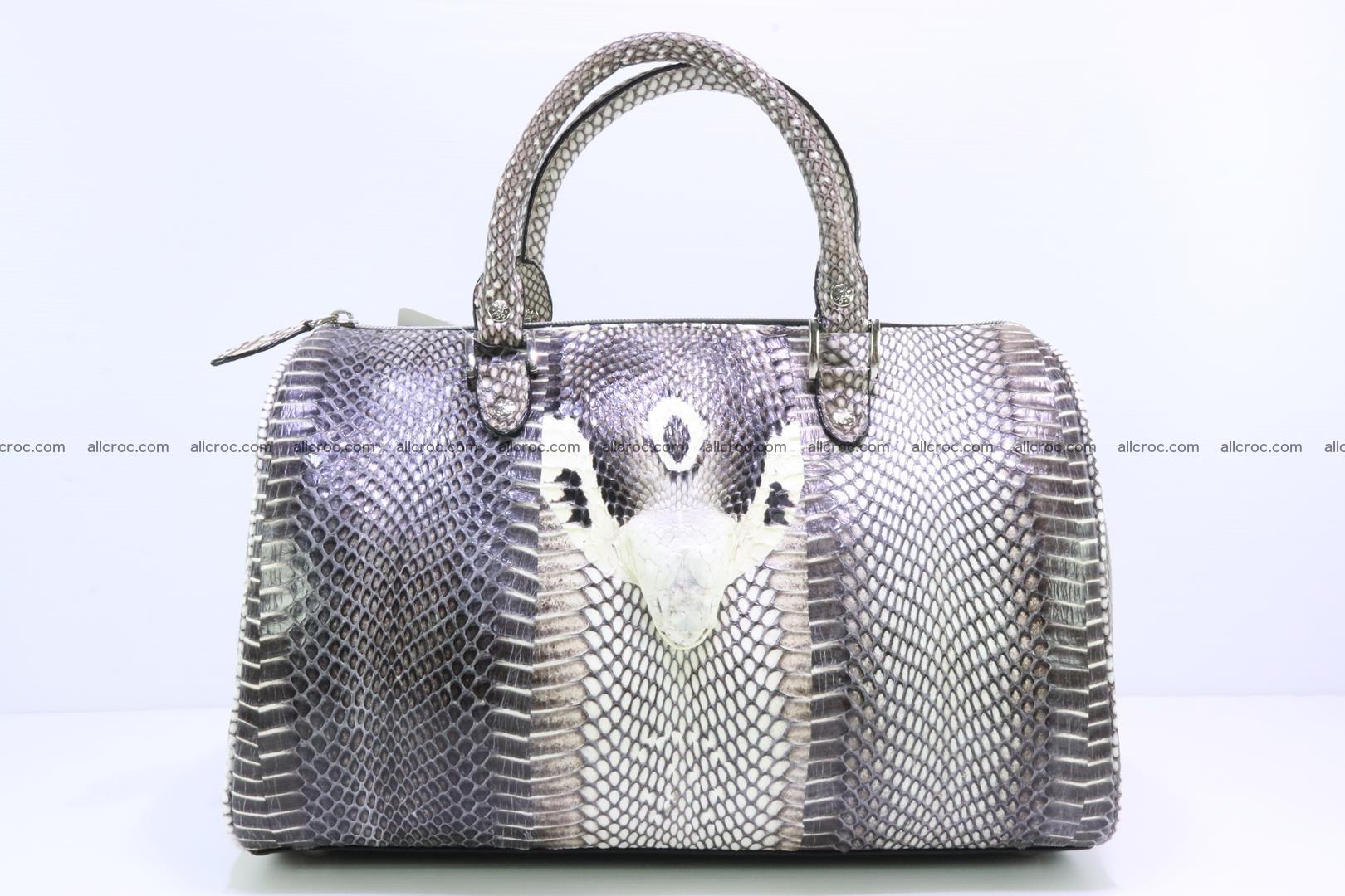 Handbag from cobra skin with head of cobra 171 Foto 0