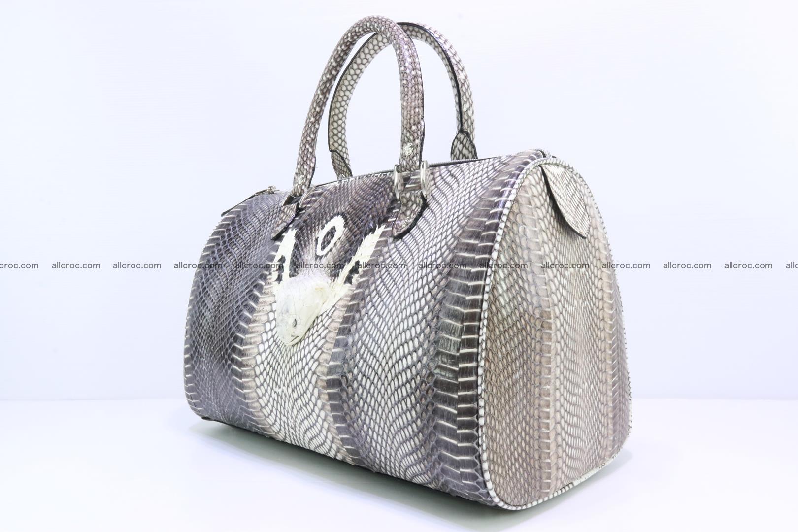 Handbag from cobra skin with head of cobra 171 Foto 1