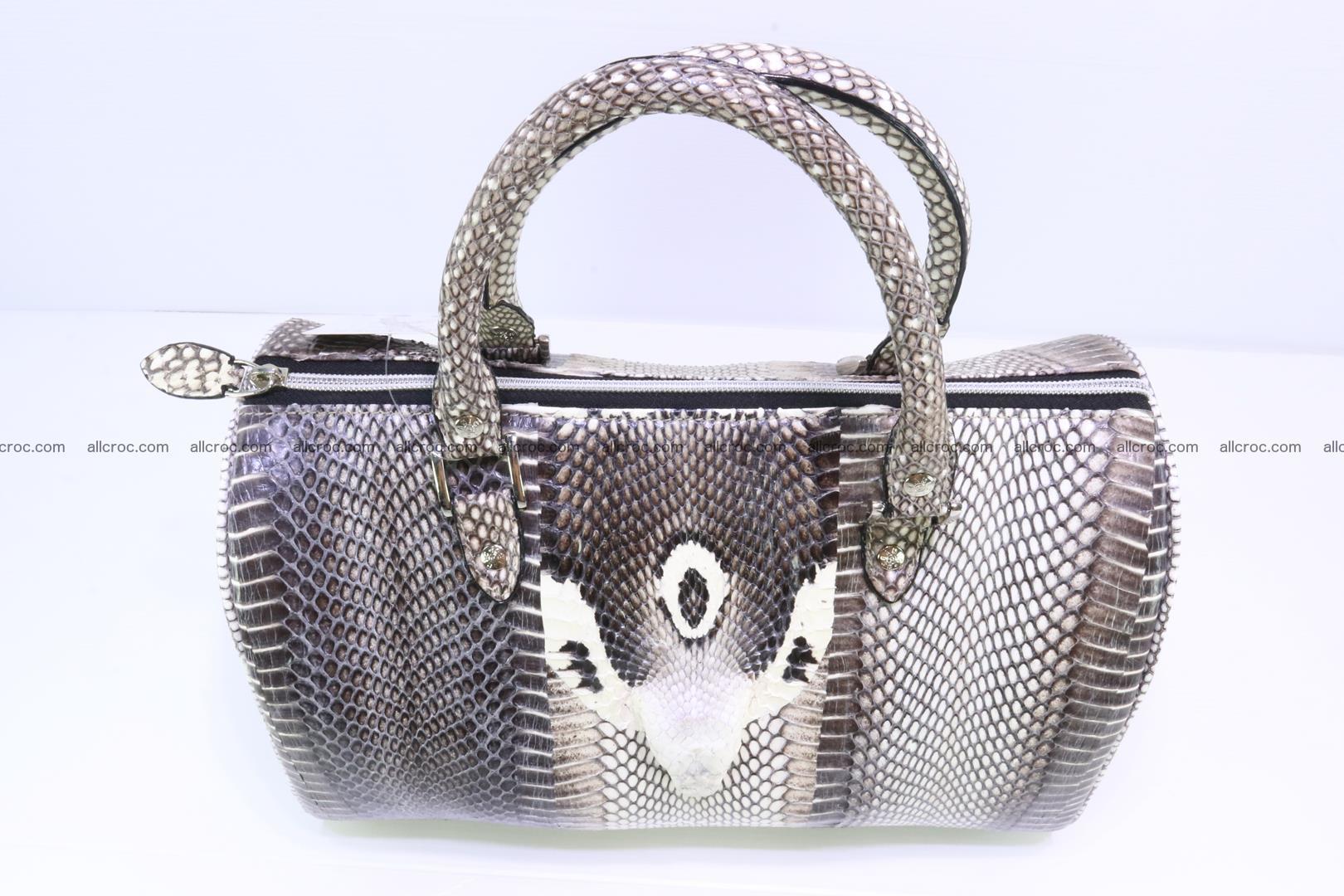 Handbag from cobra skin with head of cobra 171 Foto 2