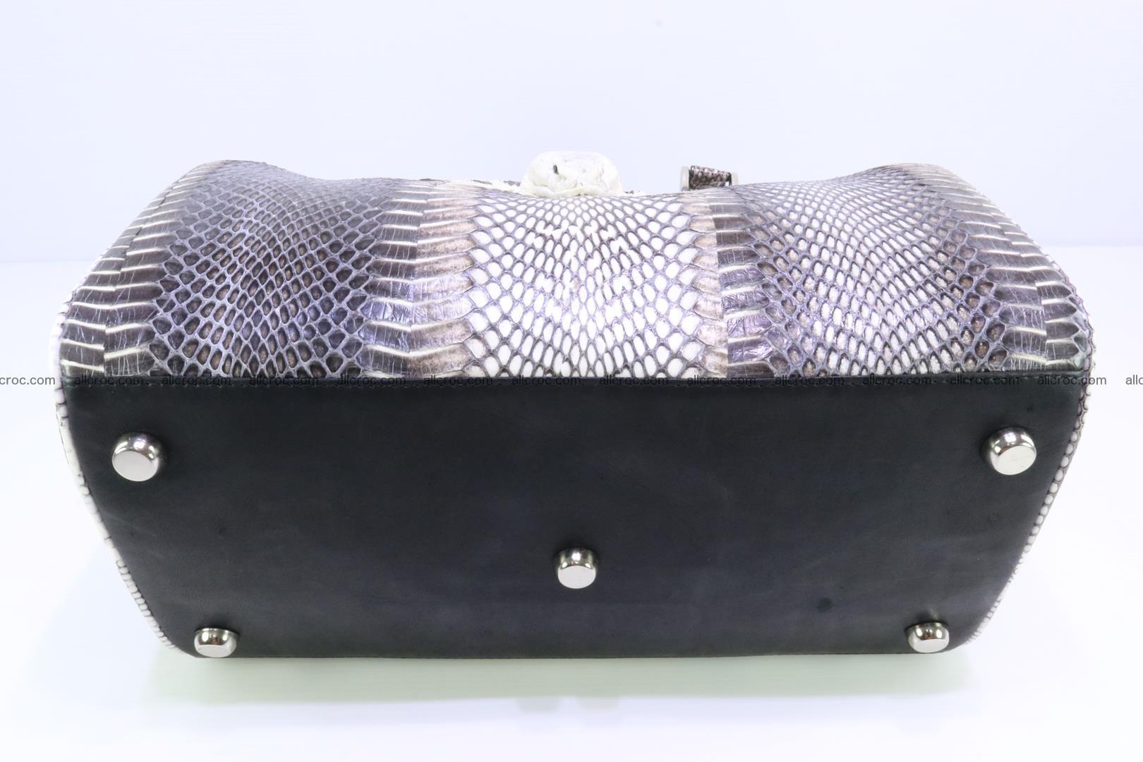 Handbag from cobra skin with head of cobra 171 Foto 9