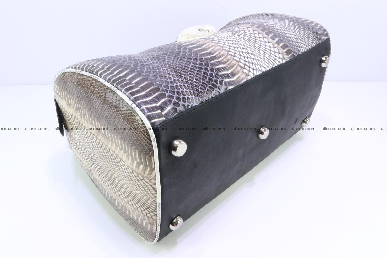 Handbag from cobra skin with head of cobra 171 Foto 10