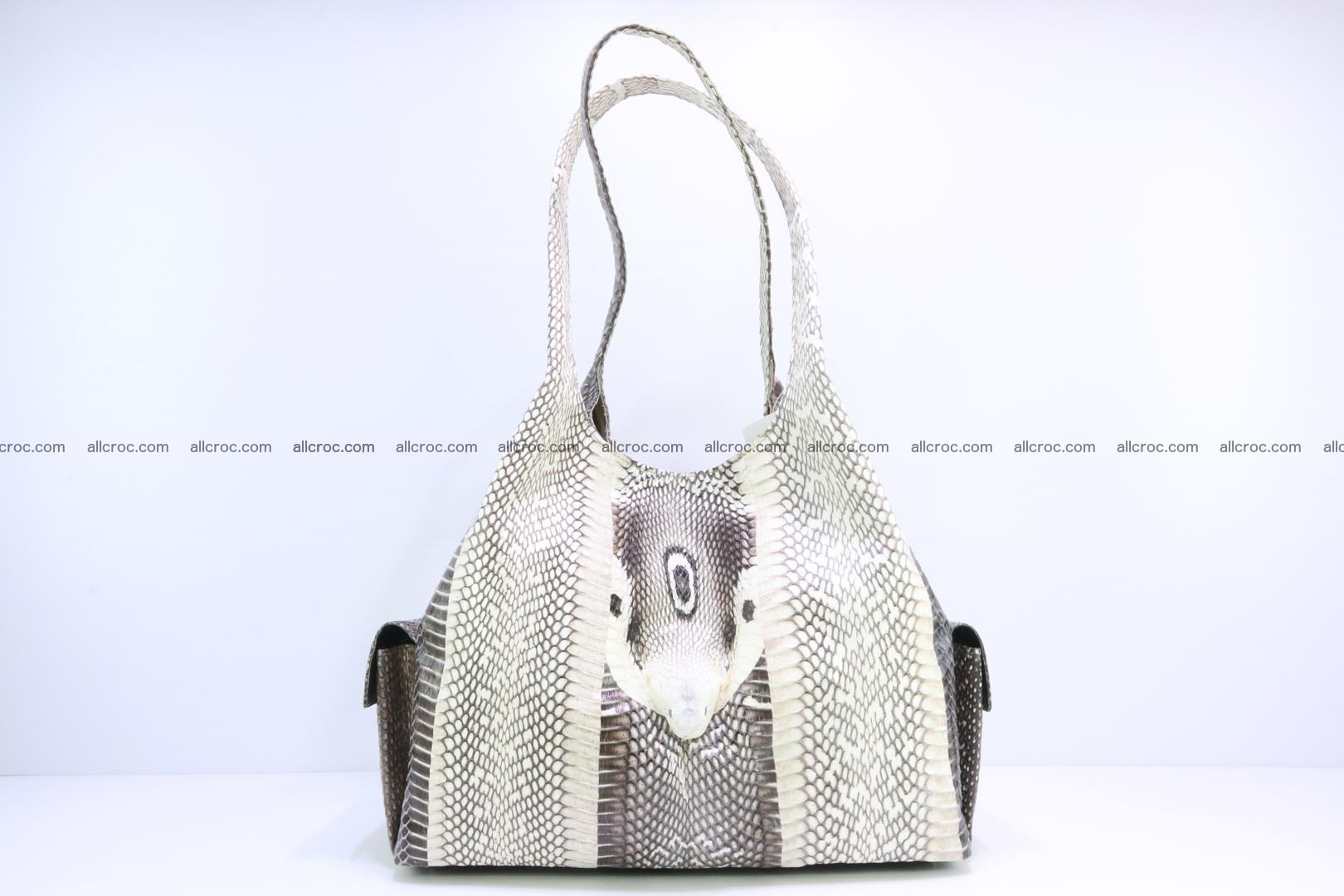 Handbag from cobra skin with head of cobra 173 Foto 0