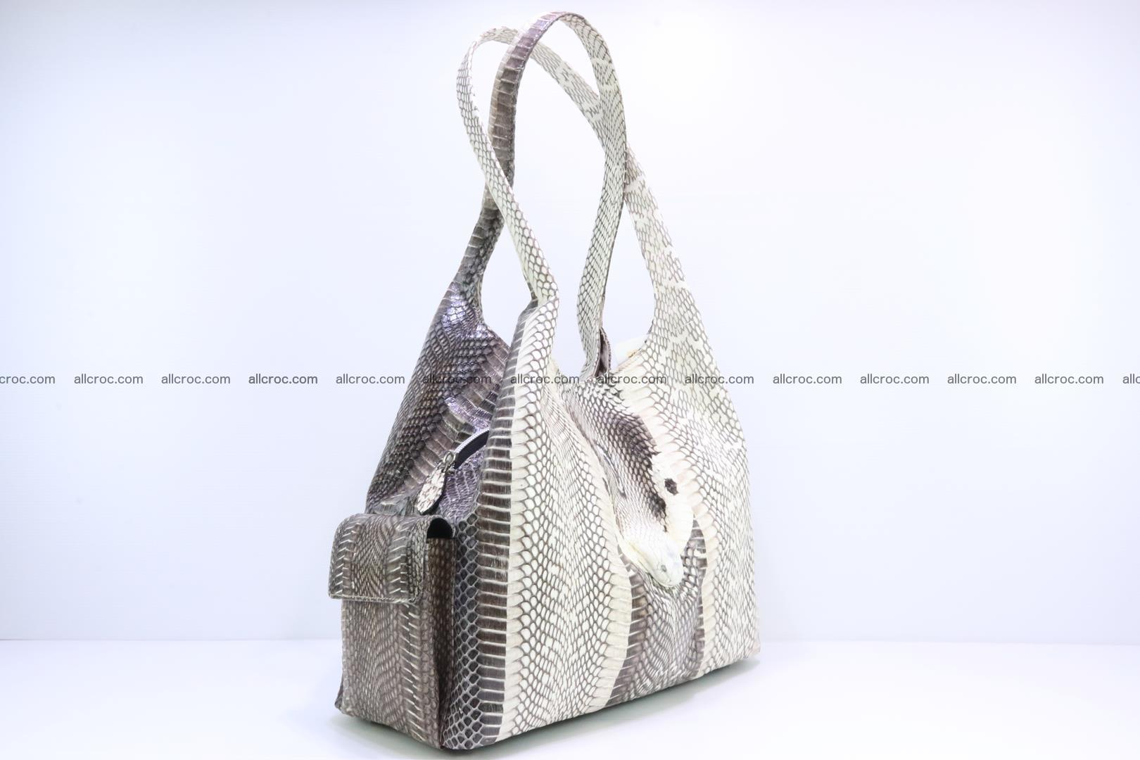 Handbag from cobra skin with head of cobra 173 Foto 1