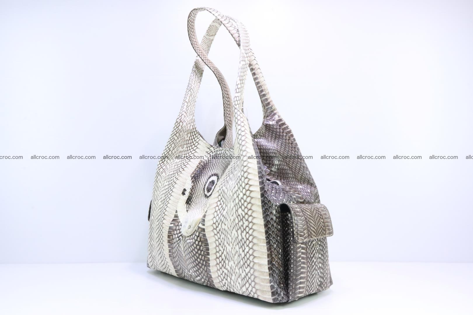 Handbag from cobra skin with head of cobra 173 Foto 2