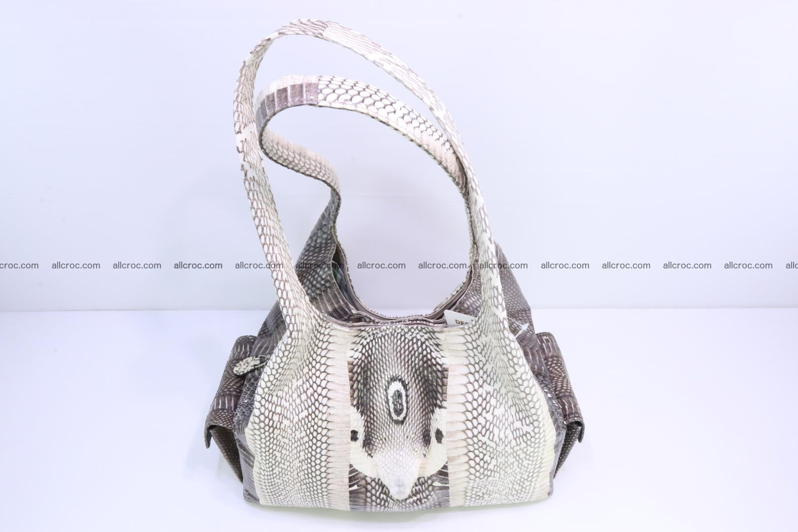 Handbag from cobra skin with head of cobra 173 Foto 4