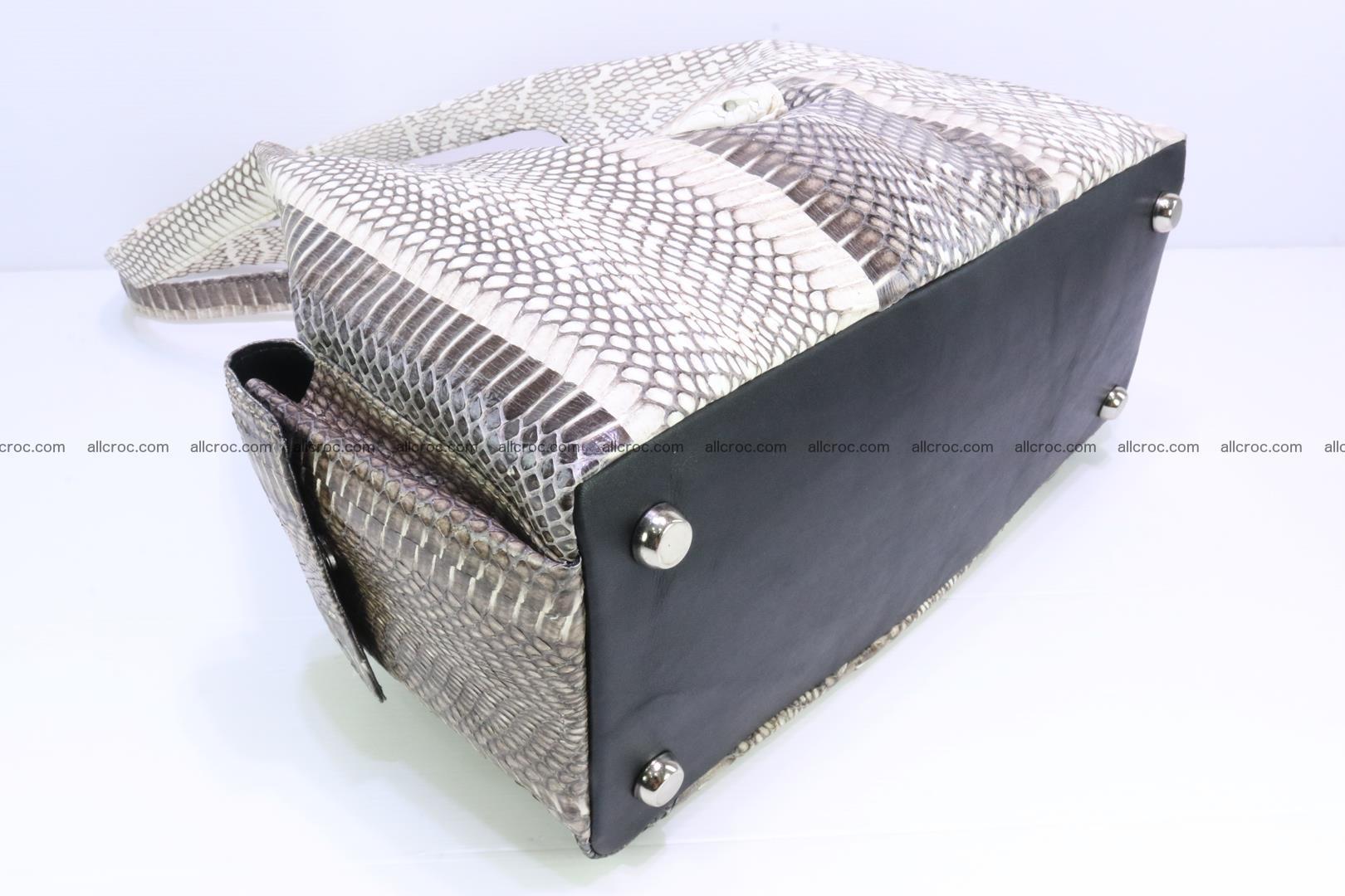 Handbag from cobra skin with head of cobra 173 Foto 8