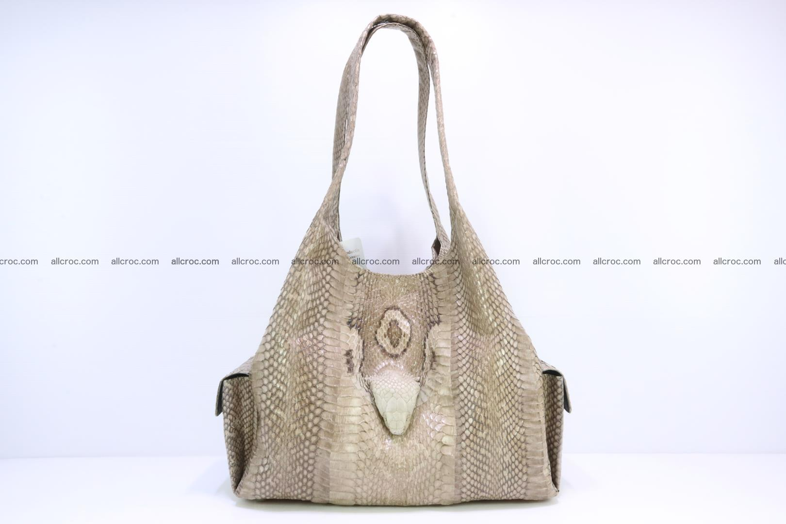 Handbag from cobra skin with head of cobra 174 Foto 0