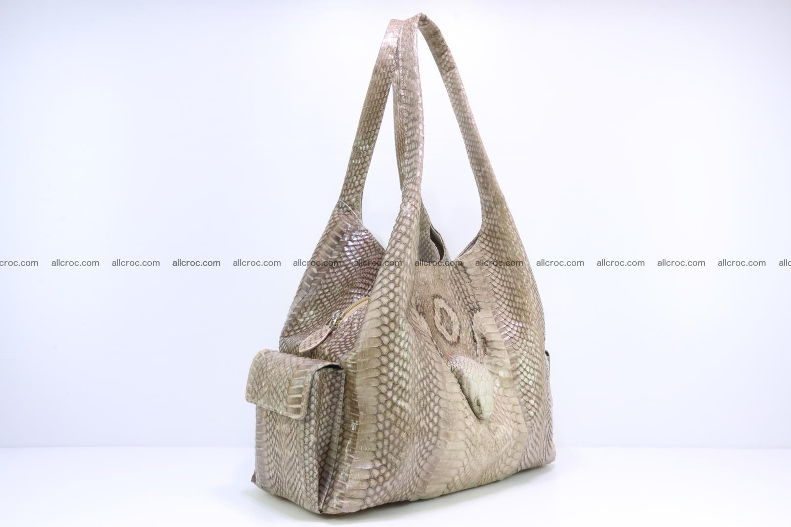 Handbag from cobra skin with head of cobra 174 Foto 1