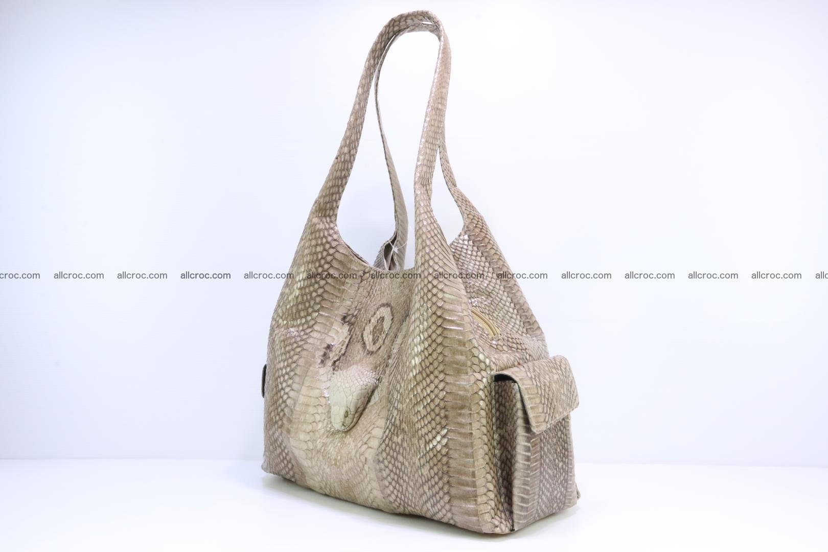 Handbag from cobra skin with head of cobra 174 Foto 2