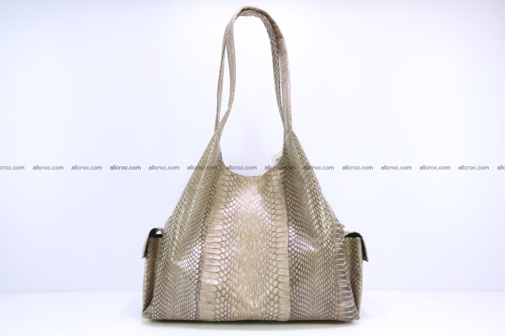 Handbag from cobra skin with head of cobra 174 Foto 3