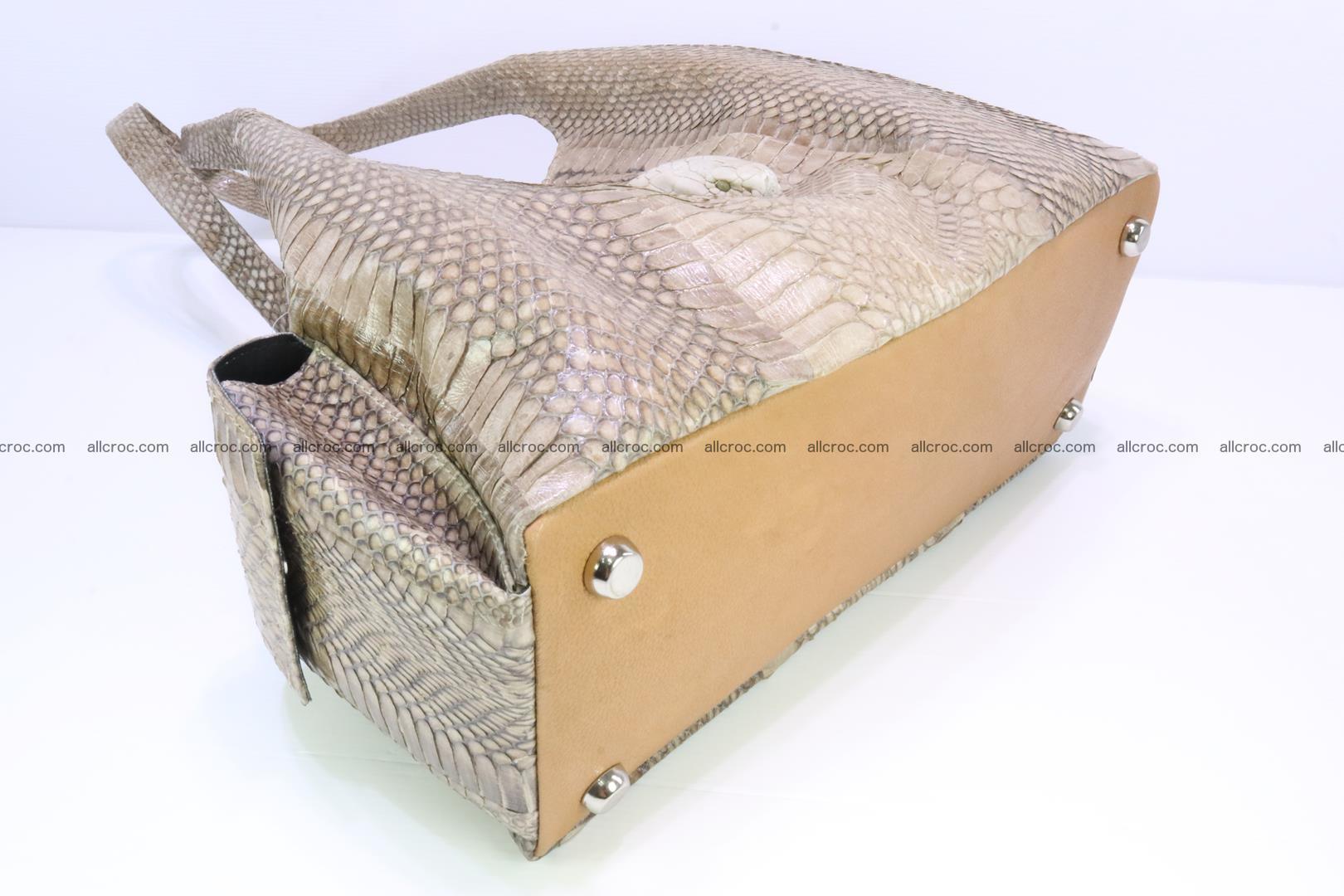 Handbag from cobra skin with head of cobra 174 Foto 7