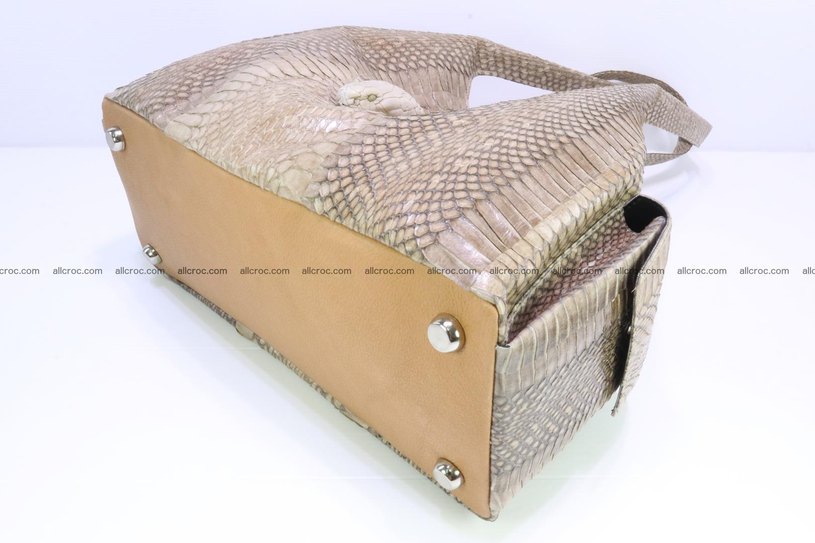 Handbag from cobra skin with head of cobra 174 Foto 8