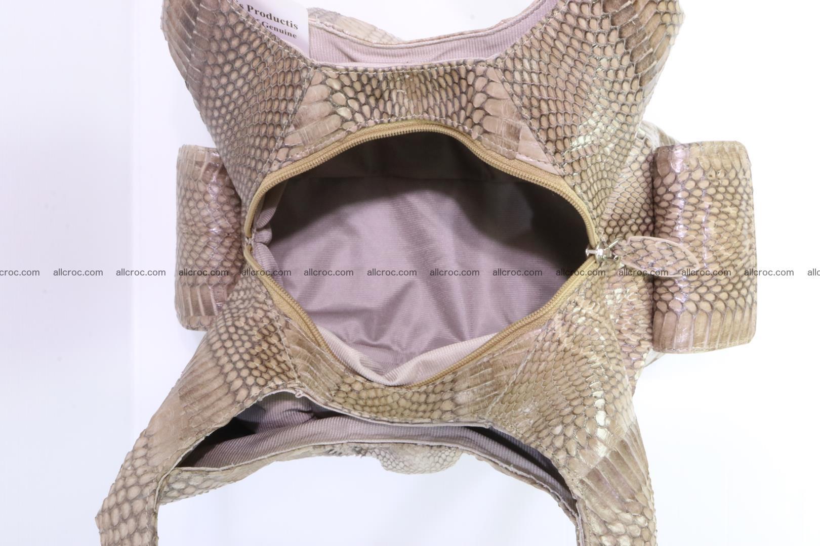 Handbag from cobra skin with head of cobra 174 Foto 11