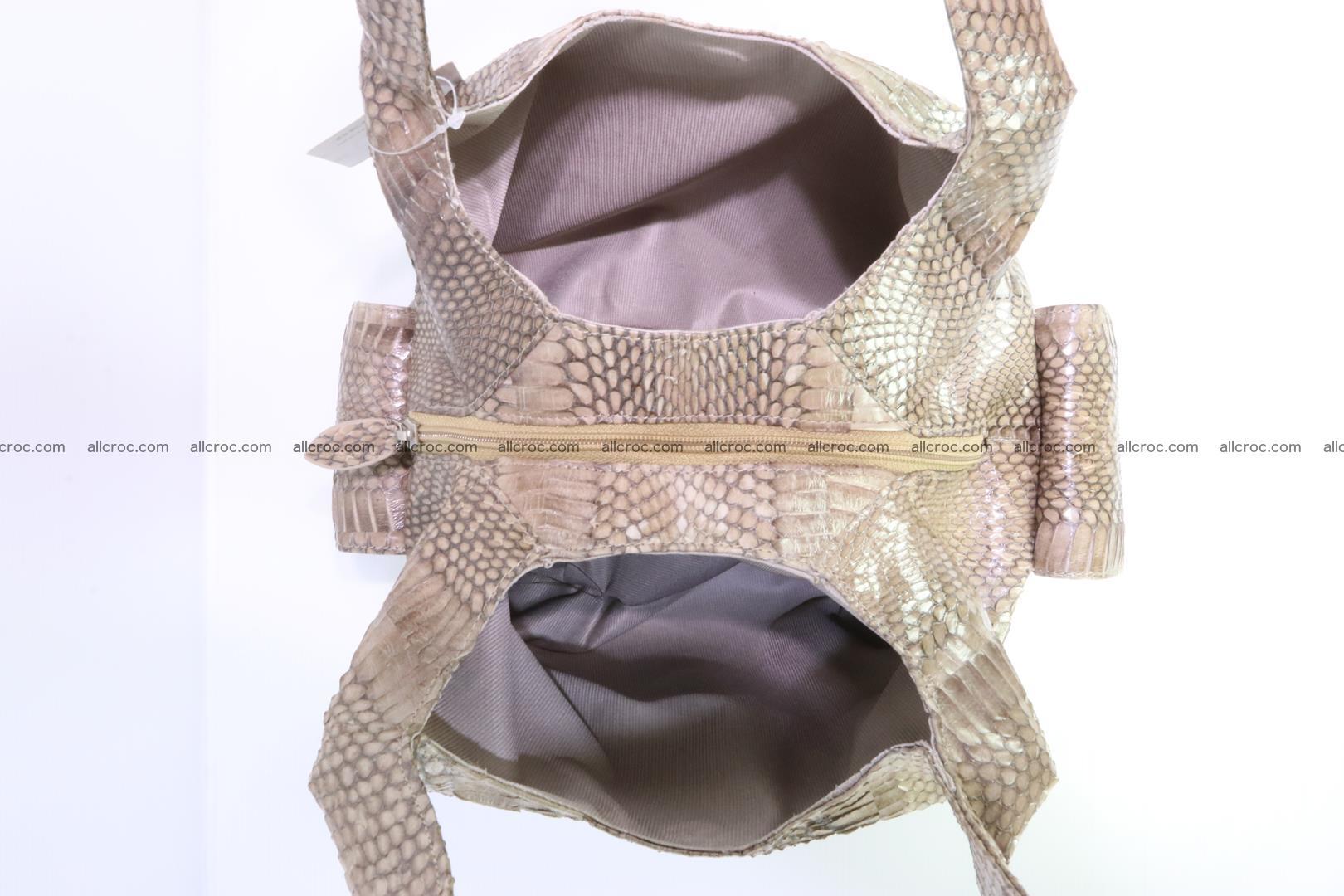 Handbag from cobra skin with head of cobra 174 Foto 12