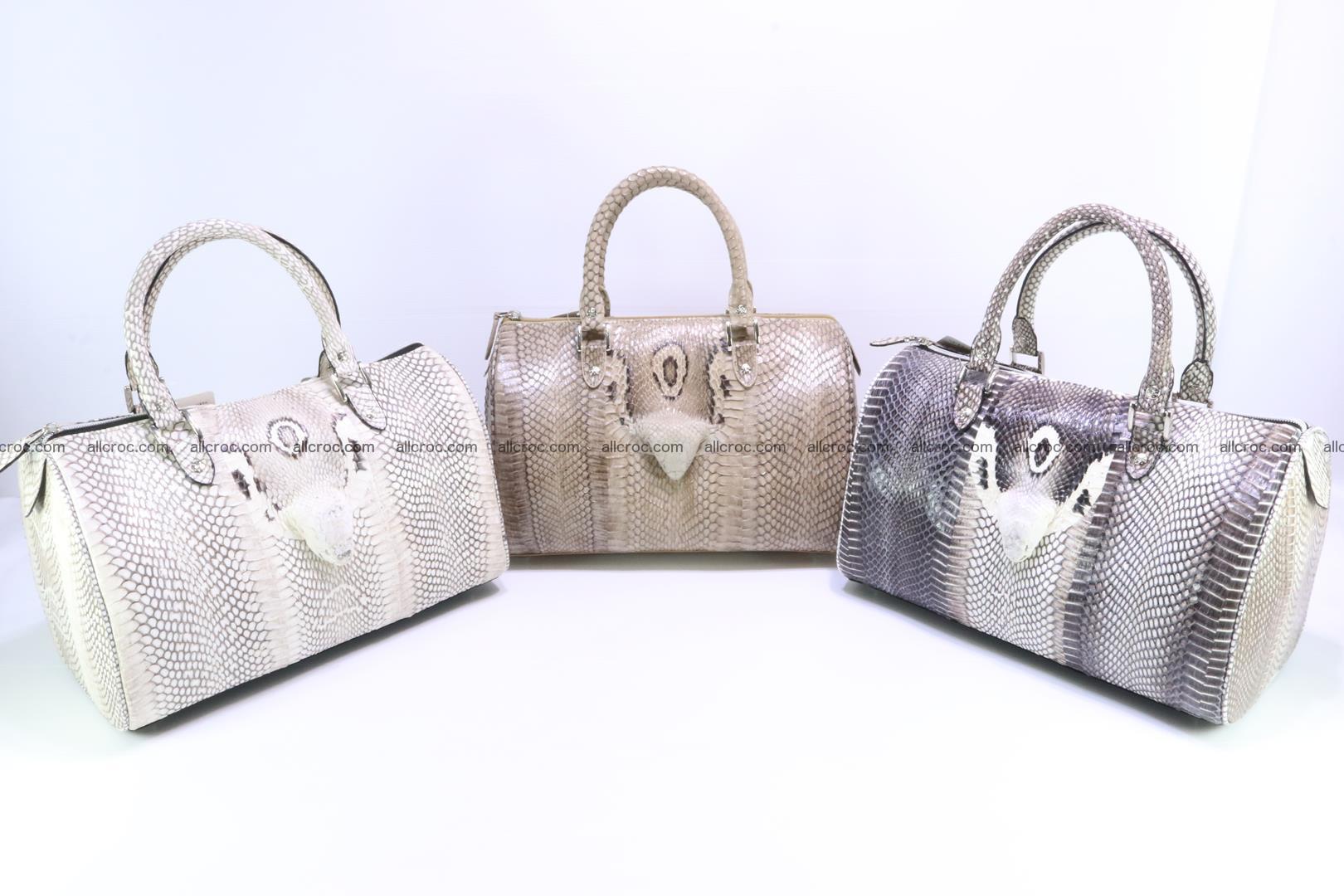 Handbag from cobra skin with head of cobra 171 Foto 14