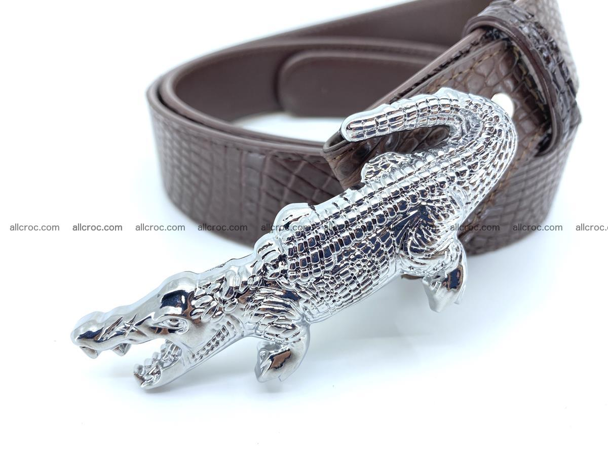 Handcrafted Crocodile leather belt 759 Foto 1