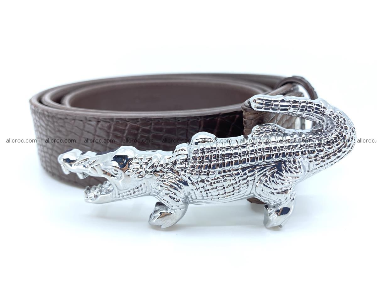 Handcrafted Crocodile leather belt 759 Foto 2