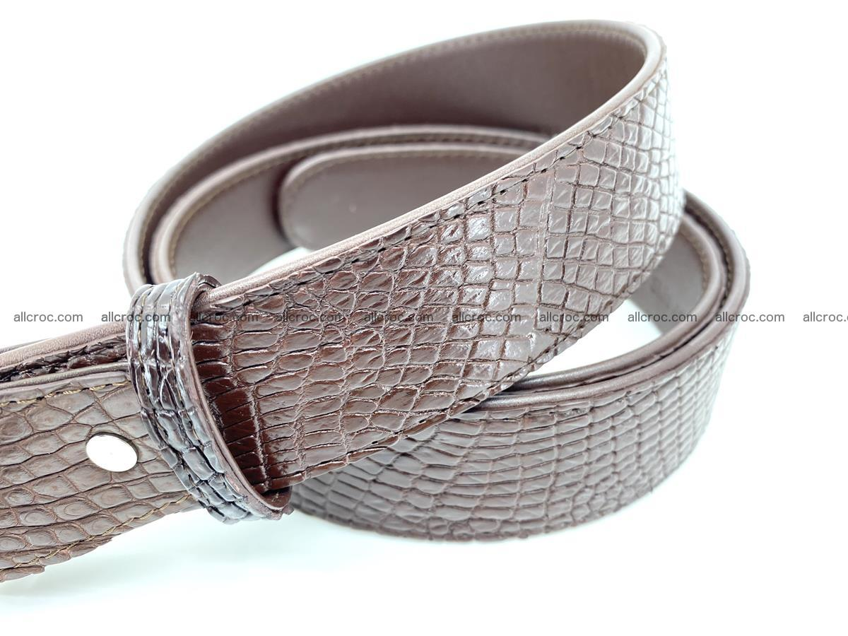 Handcrafted Crocodile leather belt 759 Foto 3