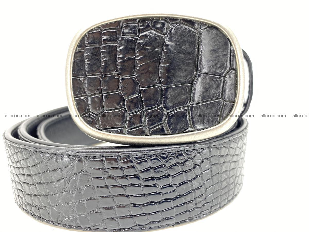 Handcrafted Crocodile leather belt 778 Foto 0