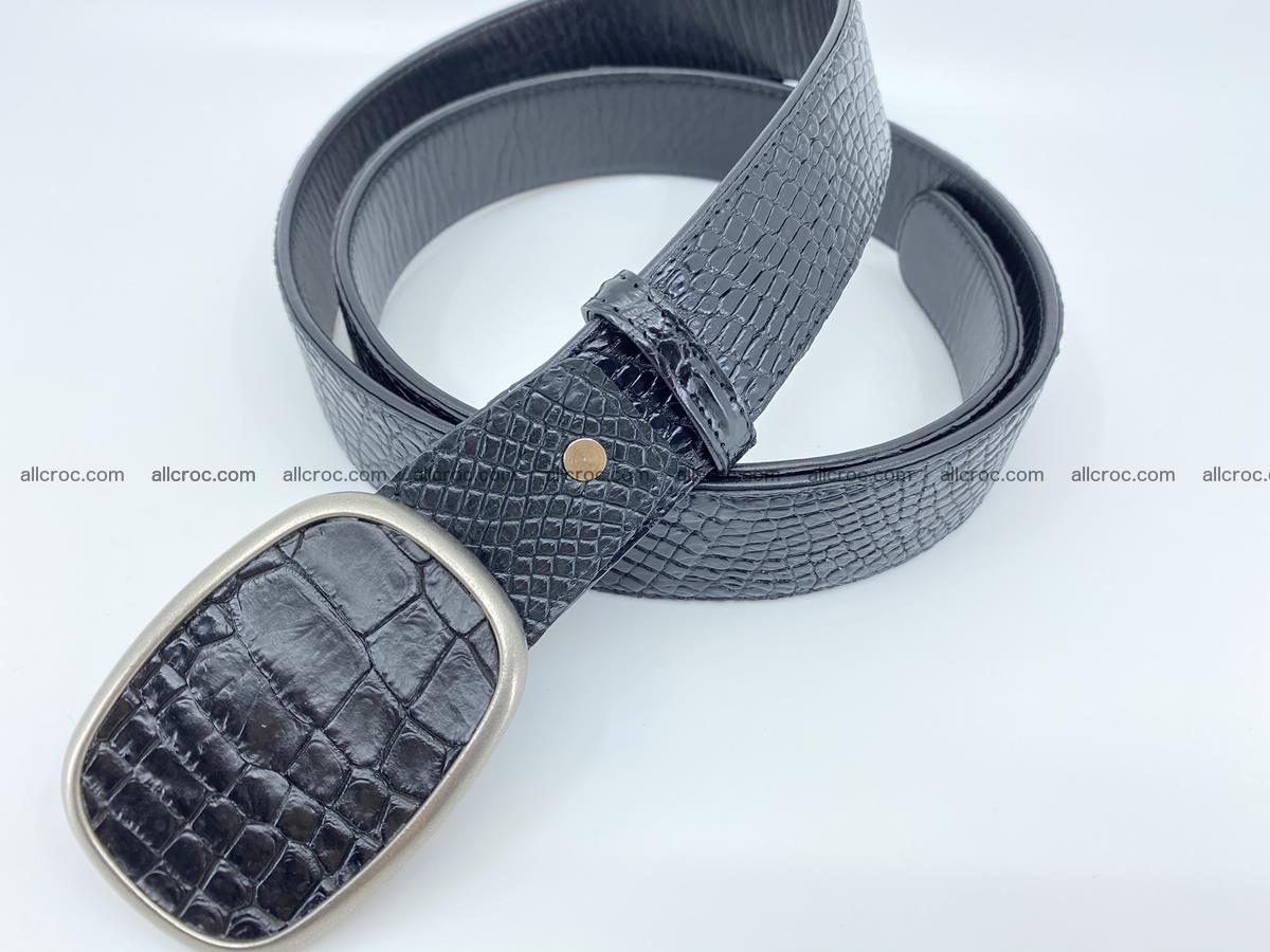 Handcrafted Crocodile leather belt 778 Foto 1