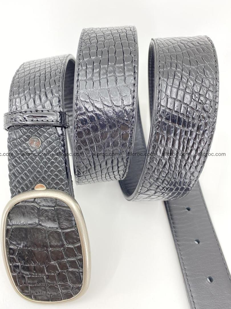 Handcrafted Crocodile leather belt 778 Foto 2