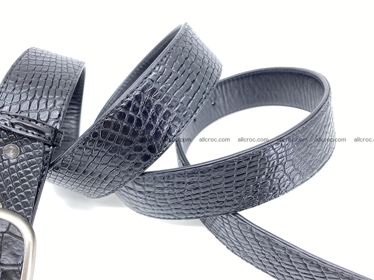 Handcrafted Crocodile leather belt 778 Foto 4