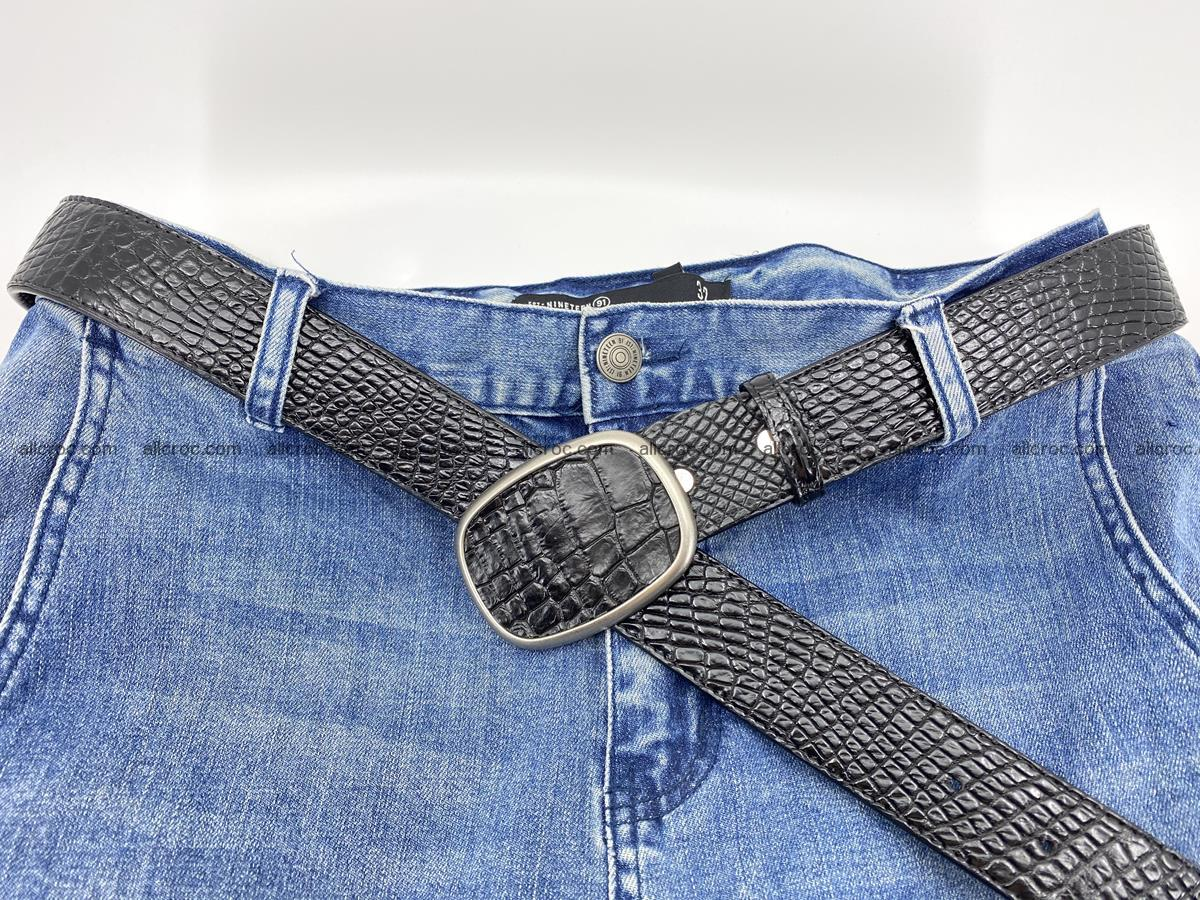 Handcrafted Crocodile leather belt 778 Foto 5