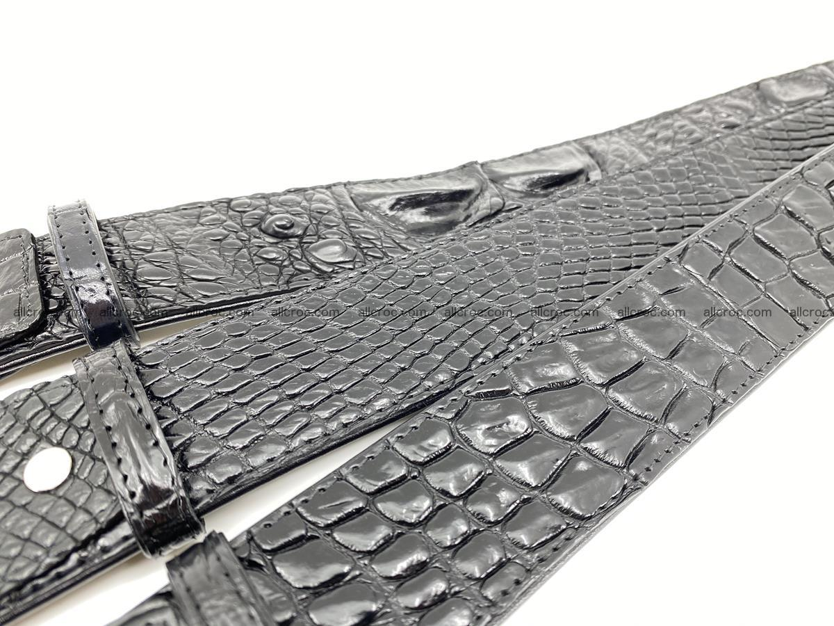 Handcrafted Crocodile leather belt 787 Foto 10