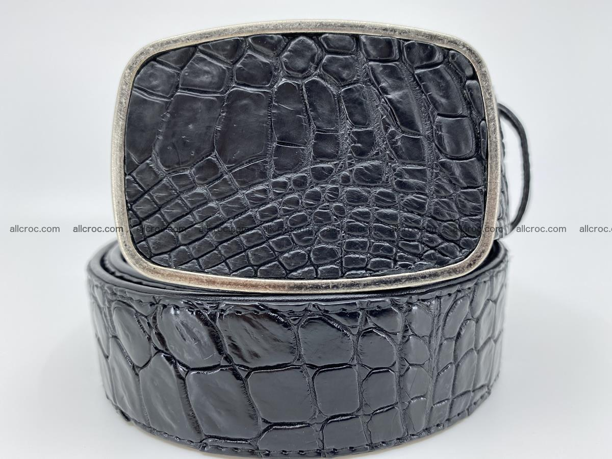 Handcrafted Crocodile leather belt 786 Foto 0