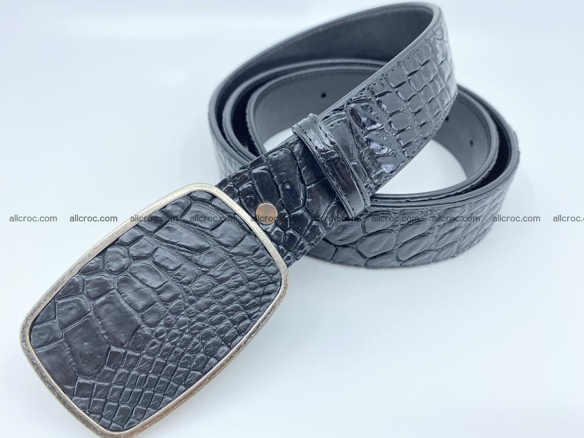 Handcrafted Crocodile leather belt 786 Foto 1